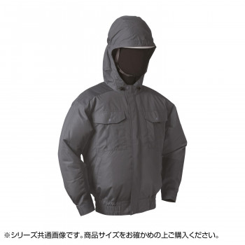 NB-101C 空調服 充黒セット 5L チャコールグレー チタン フード 8119169
