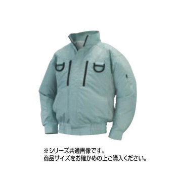 NA-113 空調服フルハーネス (服 4L) モスグリーン チタン タチエリ 8211740