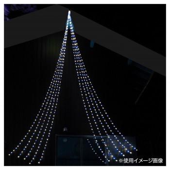 LEDイルミネーション 流れるフォールライト560球 ブルー/ホワイト DLFL560CBW