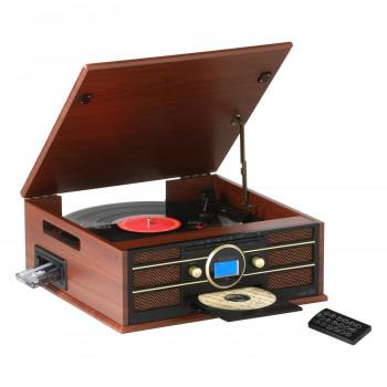 ※アウトレット品 送料無料 木目仕上げクラッシック調 新着セール 多機能レコードプレーヤー TCD-291EC 同梱不可 代引不可 ラッピング不可