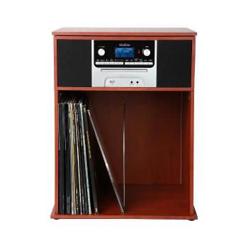 訳あり 送料無料 収納ラック付きレコードプレーヤー TS-7120 ラッピング不可 代引不可 同梱不可 大放出セール