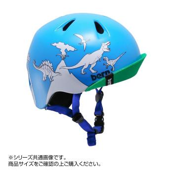 激安挑戦中 国内正規総代理店アイテム 送料無料 北海道 沖縄 離島地域は別途送料 bern バーン ヘルメット キッズ MARKERS PAINT DINOSAUR BE-VJBBDCBV-12 NINO W S-M BLUE