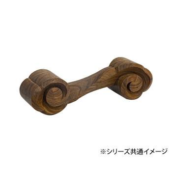 送料無料 日本製 木彫りのダンベル 別倉庫からの配送 0.5kg 03 ラッピング不可 KS-05 ウォールナット 代引不可 同梱不可 お気にいる