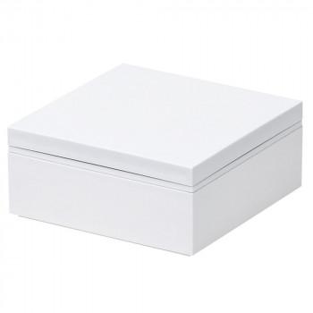 メール便発送も可能 営業 最大2個まで パール金属 普段使いできる重箱1段 D-6593 オンライン限定商品 ホワイト ゴムベルト付