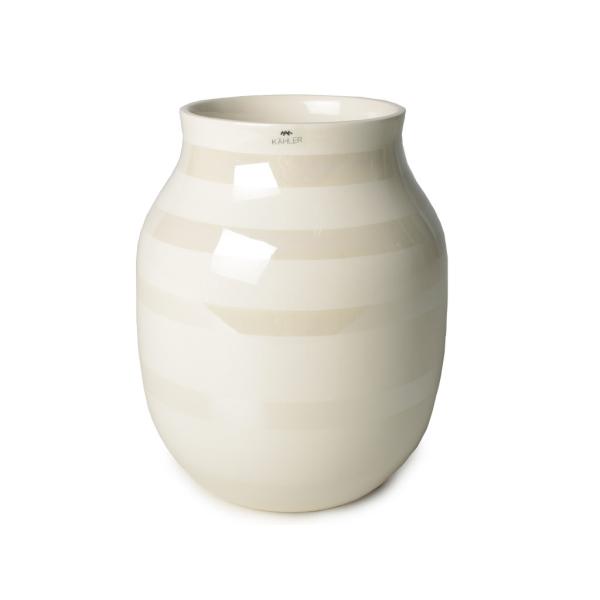 [ケーラー] Y) 16051 H200 花瓶 オマジオ ベース パール H20cm Mサイズ ホワイト メンズ レディース [キャンセル・変更・返品不可]