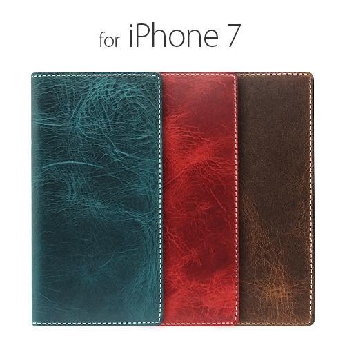 [iPhone8/7 ケース] [本革] 手帳型 Badalassi Wax case(バダラッシーワックスケース) [キャンセル・変更・返品不可]