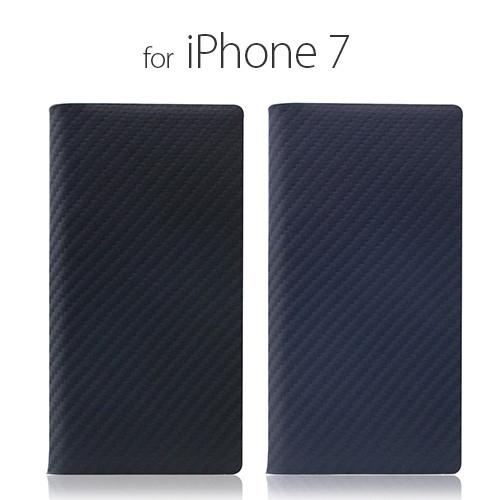 [iPhone8/7 ケース] [本革] 手帳型 Carbon Leather Case(カーボンレザーケース) [キャンセル・変更・返品不可]