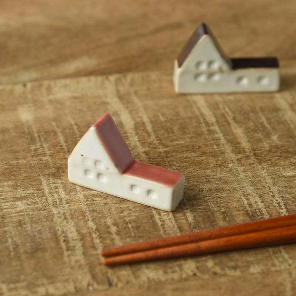 お家の形の箸置き レッド [キャンセル・変更・返品不可]