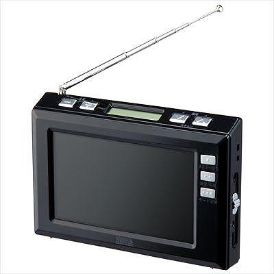 【YAZAWA(ヤザワ) 4.3インチディスプレイ ワンセグラジオ(ブラック) TV03BK】[返品・交換・キャンセル不可]