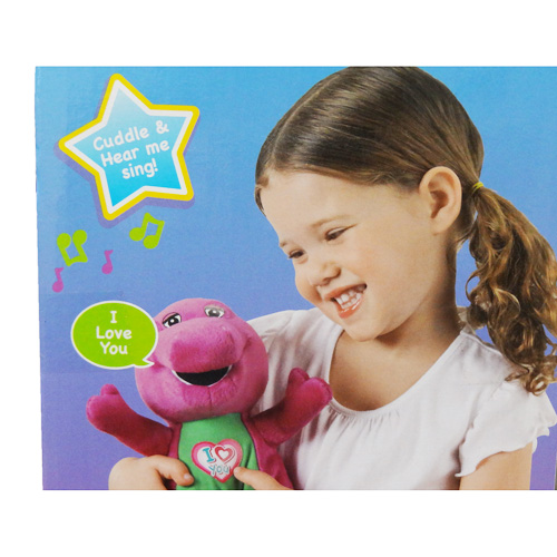 Packet not allowed 11283 Barney Barney plush I Love You Barney Yu & Friends  dinosaur figure doll song
