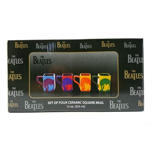 The Beatles ビートルズ カラーマグセット 4pc 13516 マグ マグカップ マルチカラー インテリア インポート 輸入 プレゼント 雑貨 メール便不可