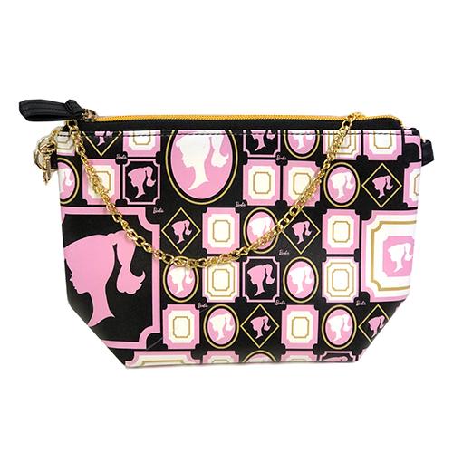 バービー ポシェット Barbie ショルダーポーチ メール便配送 12919 Barbie バッグ バック 鞄 かばん チェーン ブラック インポート:キャラクター雑貨 プレッツェル