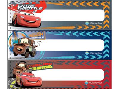 汽車姓名標簽標簽neat solutions迪士尼CARS姓名牌名字封條粘紙人物嬰兒商品yuu分組可的*