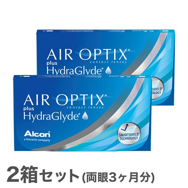 安心の国内正規品 送料無料 エアオプティクス プラス 安全 ハイドラグライド 2箱セット 大決算セール 2週間タイプ 両眼3ヶ月分 2week チバビジョン AIR HydraGlyde OPTIX アルコン plus