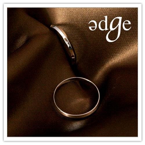 ブライダルリング 「edge(エッジ)」Koo-fuプラチナ950マリッジリング2本セット KZ-245-PAIR【レディース】 【メンズ】 【 送料無料 代引手数料無料 】 【 プリムローズ 】