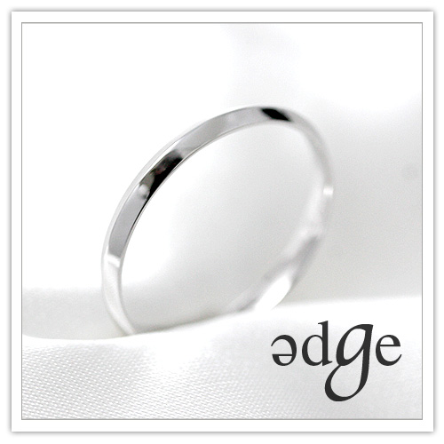 ブライダルリング 「edge(エッジ)」プラチナマリッジリング KZ-245【レディース】 【メンズ】 【 送料無料 代引手数料無料 】 【 プリムローズ 】