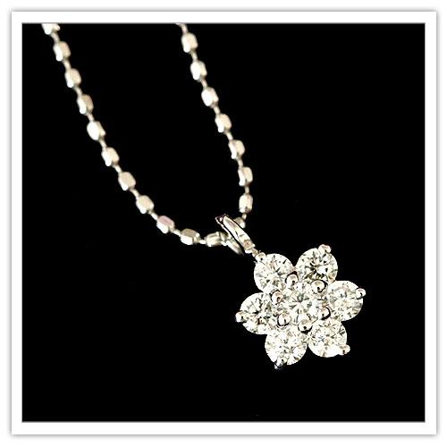 【プラチナ】total0.15ct天然ダイヤモンド『Snowflake(スノーフレーク)』7ストーンペンダントネックレス【Pt900/850】 【フォーマル】 【ブライダル】 【記念】 【プレゼント】 【プリムローズ】