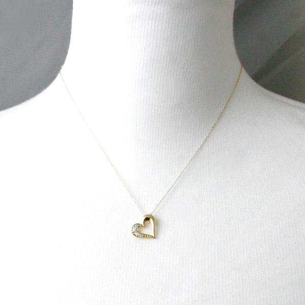 K18 天然ダイヤモンド 計約0 12ctスパイシーハートネックレス K18WGK18PGPt900プレゼントプリムローズFcK1JTl