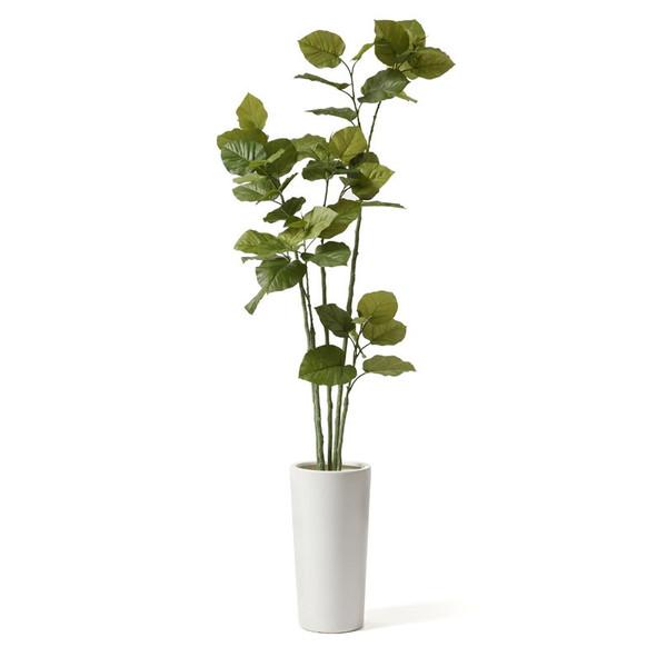 フェイクグリーン 人工観葉植物 造花 大型 ウンベラータ リバーロック プランターH50 GREENPARK   観葉植物 観葉 植物 人工 人工植物 インテリアグリーン インテリア フェイク グリーン アーティフィシャルグリーン おしゃれ プランター イミテーショングリーン