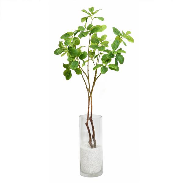 【39ショップ】【送料無料ライン対応】フェイクグリーン 人工観葉植物 造花マグノリアリーフ ガラスシリンダーH35 GREENPARK | 観葉植物 観葉 植物 人工 人工植物 インテリアグリーン インテリア フェイク グリーン
