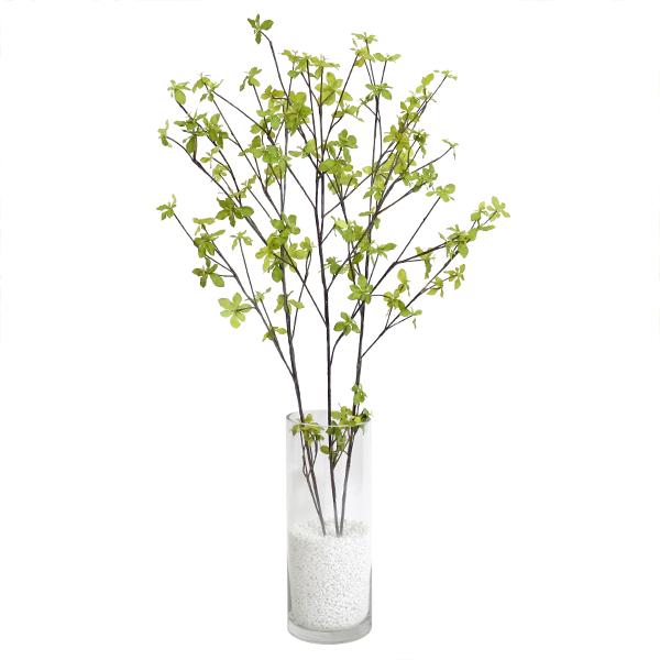 フェイクグリーン 人工観葉植物 造花 大型 ドウダンツツジ ガラスシリンダーH35 GREENPARK   観葉植物 観葉 植物 人工 人工植物 インテリアグリーン インテリア フェイク グリーン アーティフィシャルグリーン おしゃれ イミテーショングリーン
