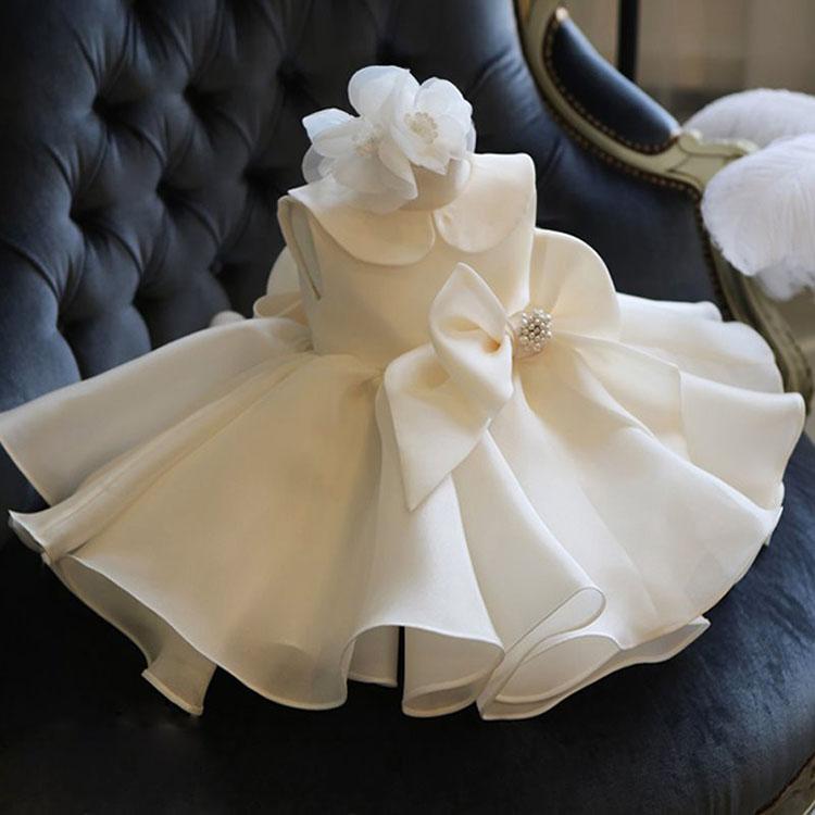 ベビー 女の子 ドレス 出産祝い 新生児 セレモニードレス お宮参り 子供ドレス 白 子供 結婚式 ドレス