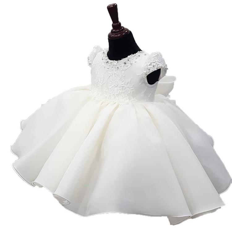 新生児セレモニードレス 袖なし 女の子 発表会 ベビードレス 結婚式 ベビードレス お宮参り 子供ドレス 白 ジュニア フォーマル 女の子 キッズ
