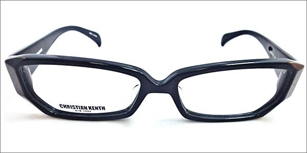 ☆CHRISTIAN KENTH☆(クリスチャン ケンス) 度付きメガネ☆薄型球面度付きレンズセットメガネ 『ブラック-CK-610』