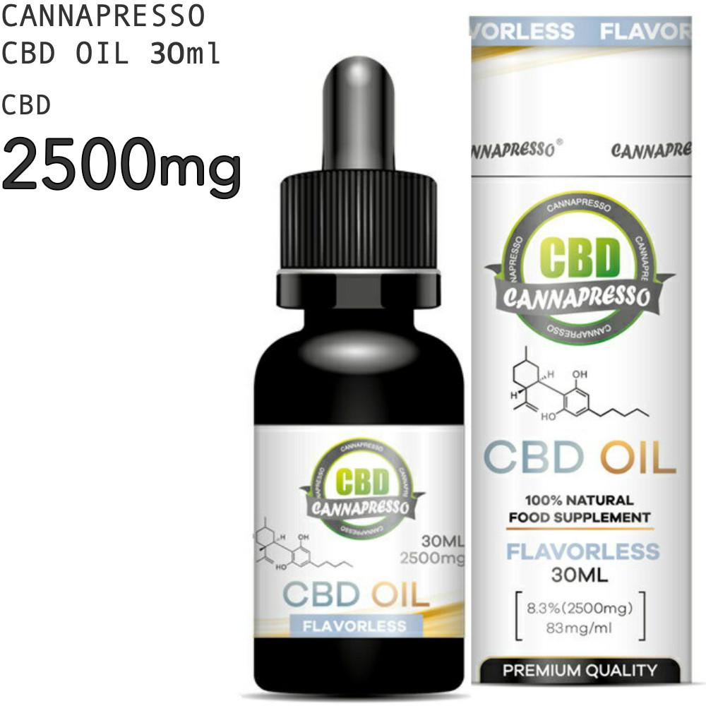 CBD オイル CBD2500mg 30ml CANNAPRESSO カンナプレッソ純度99% OIL 高濃度 cbd oil cbdオイル MCTオイル Cannabis Hemp ヘンプ パウダー 国内送料無料 カンナビジオール CBDオイル 2500mg 祝開店大放出セール開催中 サプリ Cbd リラックス 高濃度CBDオイル 8.3% MCT テルペン CBDOIL 高純度 リラクゼーション おすすめ 不眠