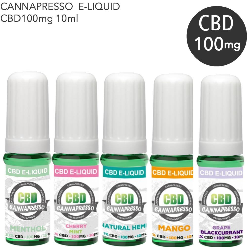 CBDリキッド CANNAPRESSO カンナプレッソ CBD VAPE 電子タバコ 含有量 100mg クーポンで2 384円 リキッド タール THC ベイプ メンソール ニコチン0 吸引 人気商品 オイル 10ml 0 信託 CBDVAPE