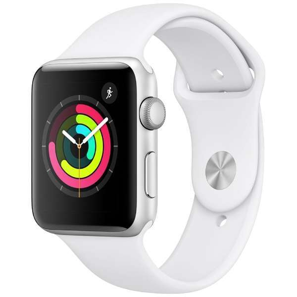 Apple Watch Series 3 GPSモデル マラソン期間限定 当店P2倍 送料無料 アップル ランキング総合1位 完売 - 42mm Series3 スポーツバンド シルバー GPS MTF22J アルミニウム 42mmシルバーアルミニウムケースとホワイトスポーツバンド A