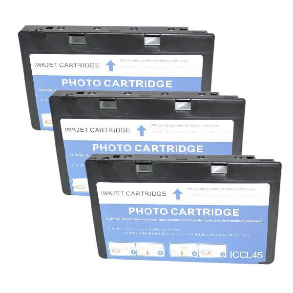安心の1年保証の高品質互換インク 再再販 IC45 EPSON エプソン IC4CL45 4色カートリッジ 3セット 国内在庫 互換インクカートリッジ 1年保証 ICチップ付き E-850 E-830 送料無料 パンダ コピー 4色一体型 他 複合機 E-840