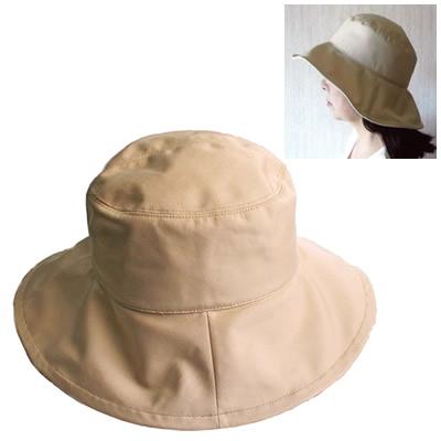 超軽量テイジン 熱中症予防 日よけ帽子 クリーム(女性)【ナノフロントぼうし】【SG日差】【送料無料】