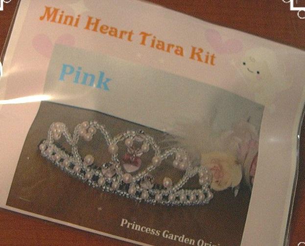 商品 お子さんのピンクのドレスに合わせて 限定特価 ミニハートティアラ手作りキット ピンク ブライダル小物ウェディング七五三ハロウィン キッズティアラ