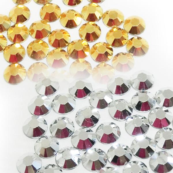 シルバー ゴールド ストーン ネイル ラインストーン メタルカラー 金 銀 ネイルパーツ アクリルストーン パーツ レジンストーン 樹脂アクリルストーン メタリックカラー クリスタルストーン スーパーSALE セール期間限定 国内正規品