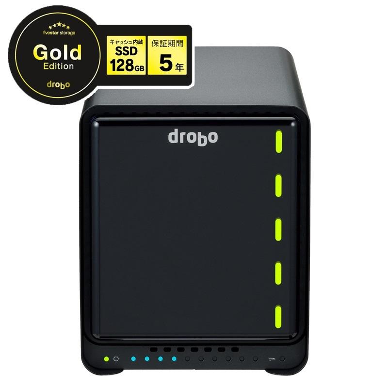 【全品ポイント2倍!】Drobo 5N2(Gold Edition) Ethernet(LAN)対応 NASケース 3.5インチ×5bay Beyond RAID(R) ストレージシステム PDR-5N2GLD ドロボ プレミアムモデル 5年保証 クリスマスプレゼント