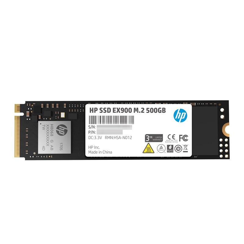 HP SSD M.2 EX900シリーズ 500GB NVMe 1.3/ 3D TLC/ 3年保証 2YY44AA#UUF エイチピー