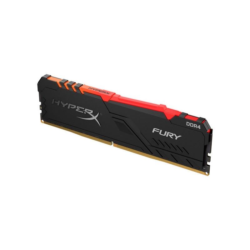 【メーカー取り寄せ】 キングストン HyperX FURY RGB 16GB 2666MHz DDR4 CL16 DIMM ゲーミングメモリ 赤外線同期 RGBイルミネーション HX426C16FB3A/16 製品寿命期間保証 Kingston ハイパーエックス 増設メモリ