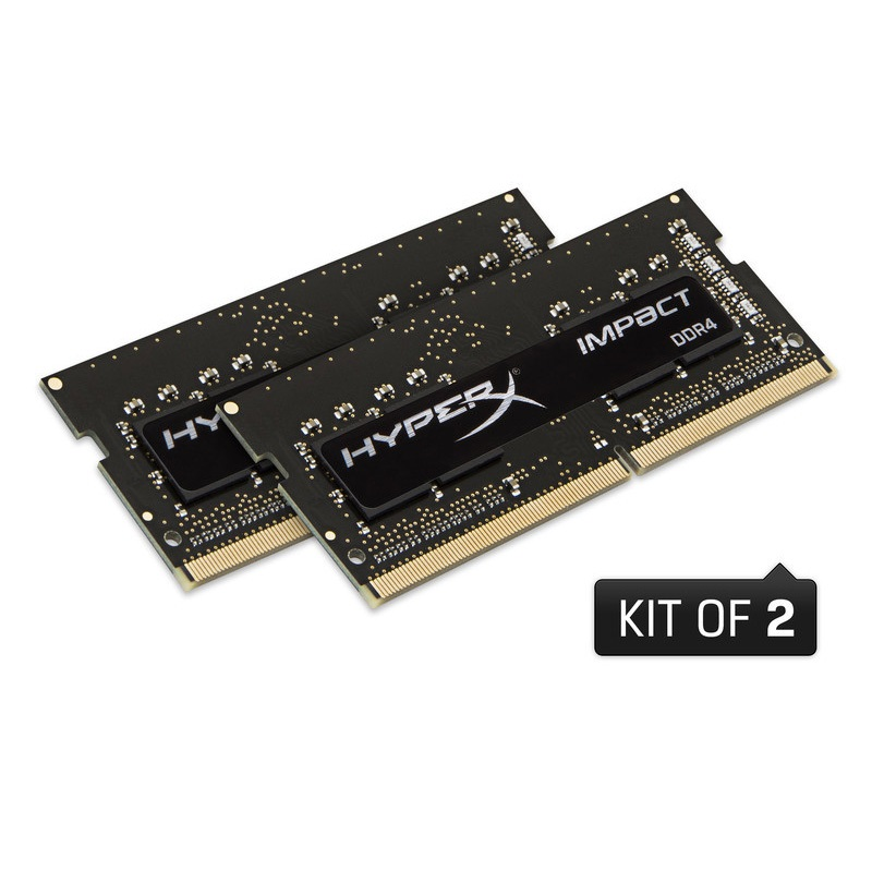 キングストン HyperX Impact 32GB(16GBx2枚組) 2400MHz DDR4 CL14 SODIMM 260pin (Kit of 2) HX424S14IBK2/32