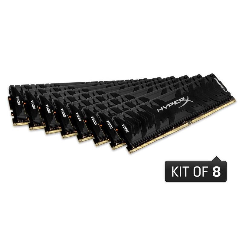 【全品ポイント2倍!】キングストン HyperX Predator 128GB(16GBx8枚組) 3000MHz DDR4 CL15 DIMM 288pin (Kit of 8) XMP HX430C15PB3K8/128 製品寿命期間保証 Kingston クリスマスプレゼント