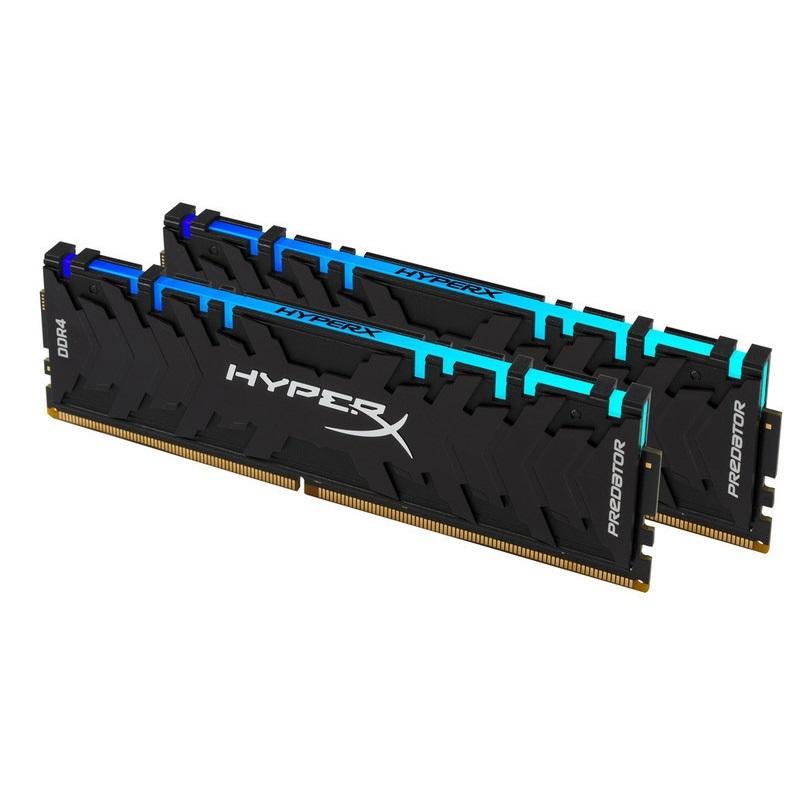 キングストン HyperX Predator RGB 16GB(8GB×2枚組) 2933MHz DDR4 CL15 DIMM (Kit of 2) XMP RGBイルミネーション搭載 HX429C15PB3AK2/16 製品寿命期間保証 Kingston