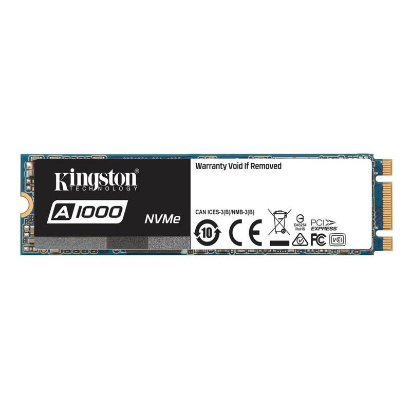 【全品ポイント2倍!】キングストン SSDドライブ A1000 SSD M.2(2280) ケースレス 960GB PCIe NVMe Gen 3.0 x 2 SA1000M8/960G クリスマスプレゼント