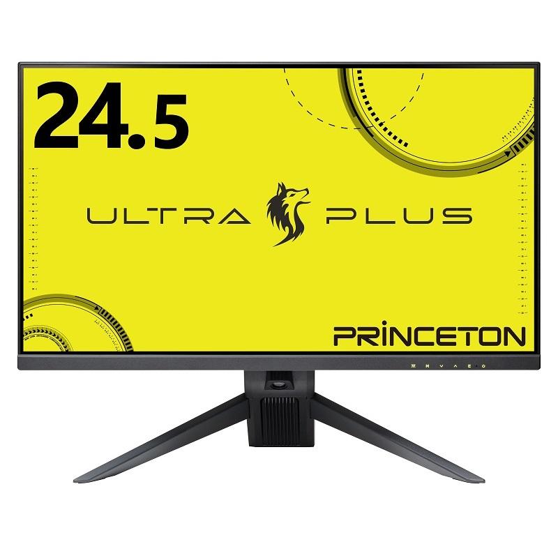 プリンストン ULTRA PLUS 24.5型 144Hz TNパネル フルHD ゲーミング液晶ディスプレイ PTFGLB-25W テレワーク 在宅ワーク HDMI DusplayPort USBハブ 高さ調整可 HDR 白色LEDバックライト HDCP DCR機能 Adaptive-Sync