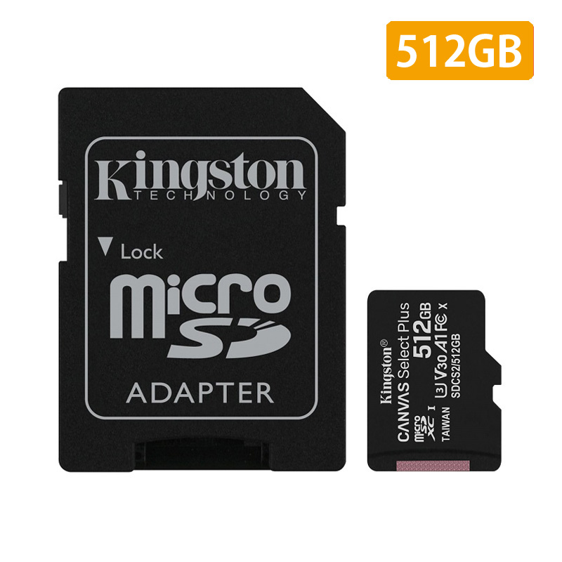 【メーカー取り寄せ】 キングストン microSDXCカード Canvas Select Plus 512GB カードアダプタ付 SDCS2/512GB Kingston スマホ Android A1 アンドロイド HD 耐久性 変換アダプタ マイクロSD マイクロSDXC Android A1 パフォーマンスクラス クリスマスプレゼント