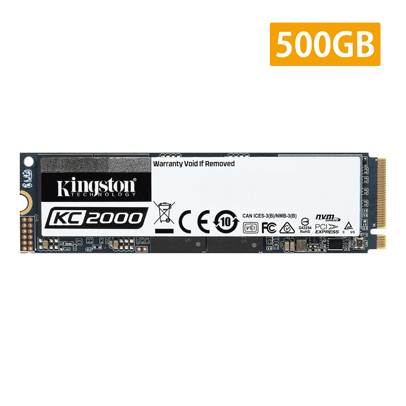 キングストン NVMe PCIe SSD KC2000シリーズ 500GB SKC2000M8/500G kingston 3D TLC NAND NVMe PCIe Gen 3.0 x4 M.2(2280) 暗号化