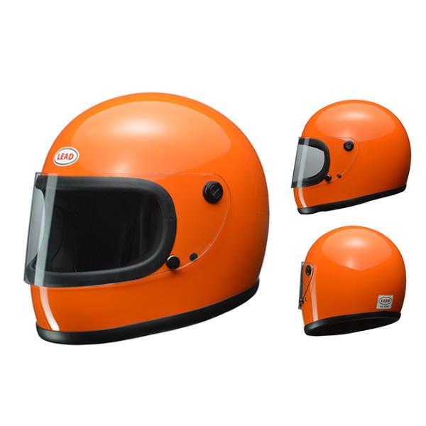 LEAD RX-200R フルフェイスヘルメット オレンジ フリーサイズ オリジナルPVCステッカー付き