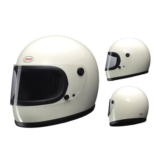 LEAD RX-200R フルフェイスヘルメット ホワイト フリーサイズ オリジナルPVCステッカー付き