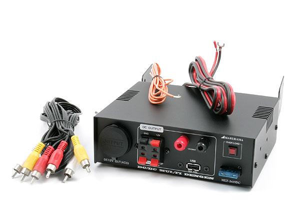 マルチ電源 【DC24→DC12変換】 DC DCコンバーター搭載 マルチ電源 USB 他MLT-2415DC