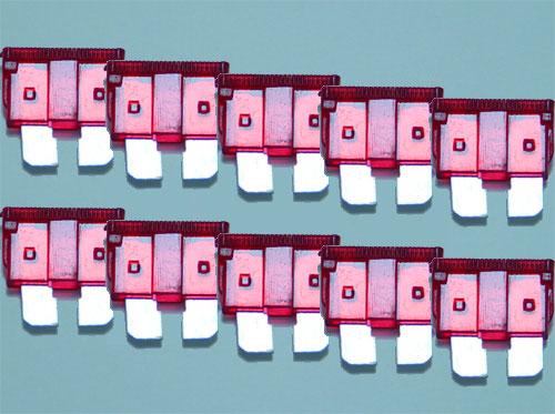 午前中決済・即日発送 在庫豊富大量注文OK 平型ヒューズ 他のヒューズとの同梱可能 平型ヒューズ 【ネコポス便可】【10個セット】 平型ヒューズ 10A AFH-100-10A