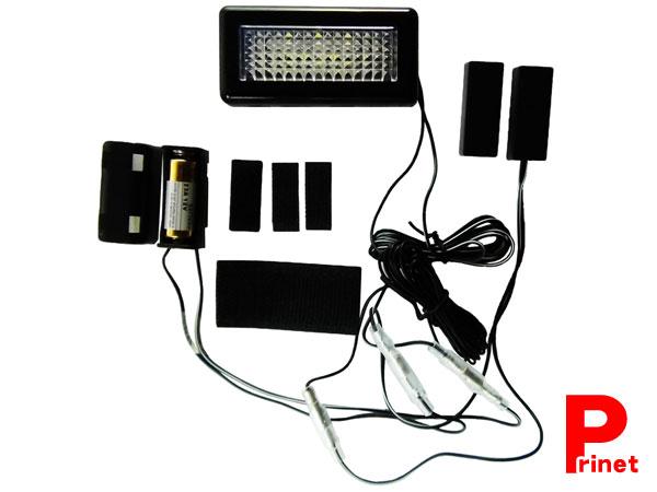 悩み解決 マグネットスイッチ付で開けた時に光らせることが可能 リアボックス内など トランクライト 電池付 カー用 バイク用 KM-TR01 NEW売り切れる前に☆ LEDトランクライト 超簡単取付 新着セール